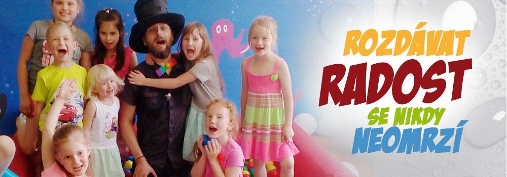 Čáry Kluk | kouzelník pro děti | Rozdávat dětem radost se nikdy neomrzí