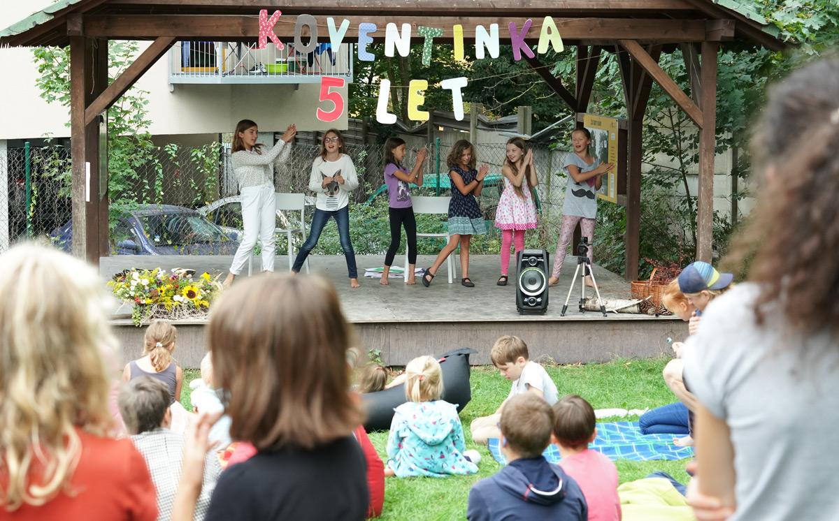 Oslavy 5. narozeniny komunitní školy Koventinka