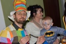Kouzelník s Batmanem na maškarním