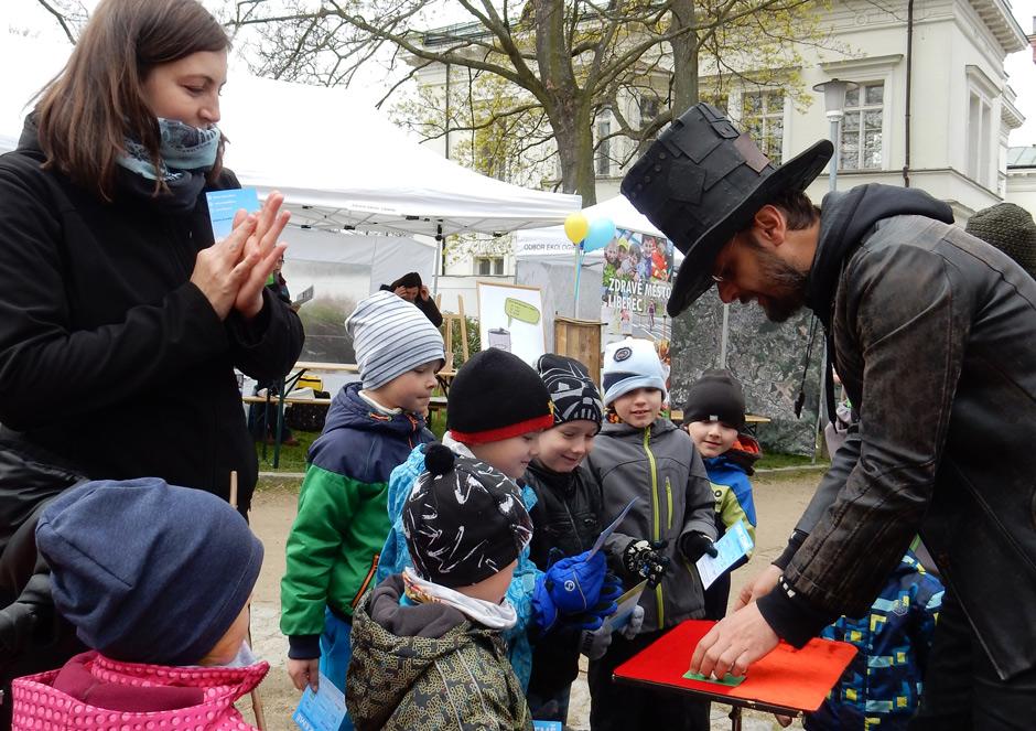 Čáry Kluk a děti na Ekolympiádě Liberec