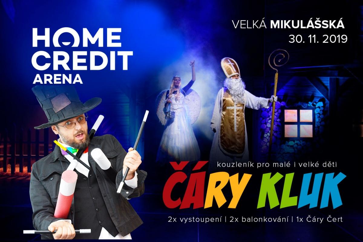 Kouzelník Čáry Kluk v Home Credit Areně