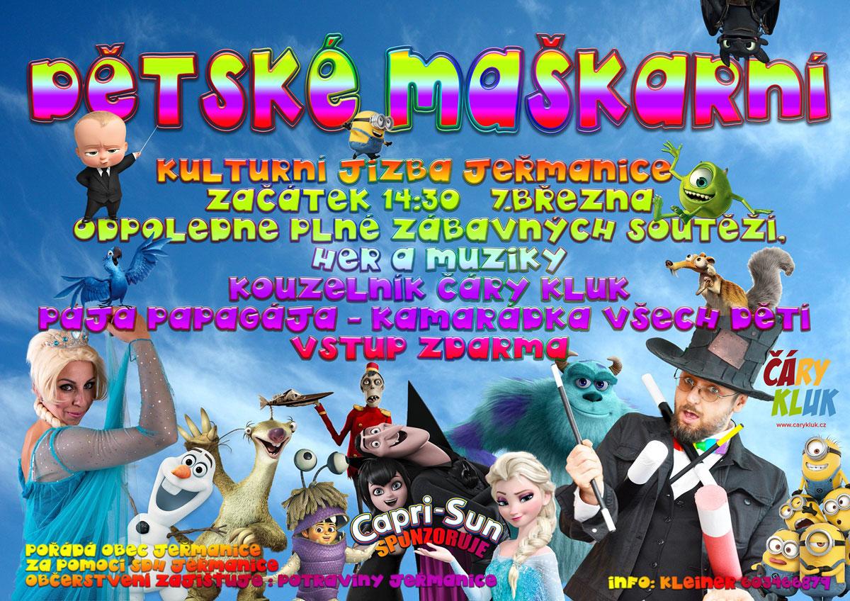 Dětský karneval s kouzelníkem Čáry Klukem - Jeřmanice