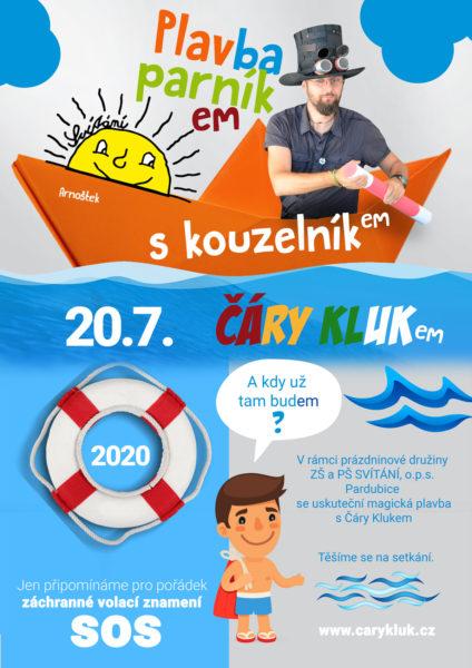 Kouzelník Pardubice   Čarování pro děti na parníku Arnoštek