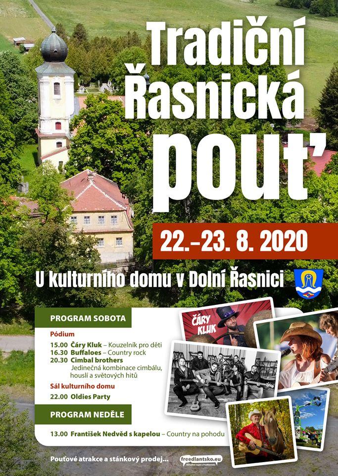 Plakát Tradiční Řasnická pouť s bohatým programem