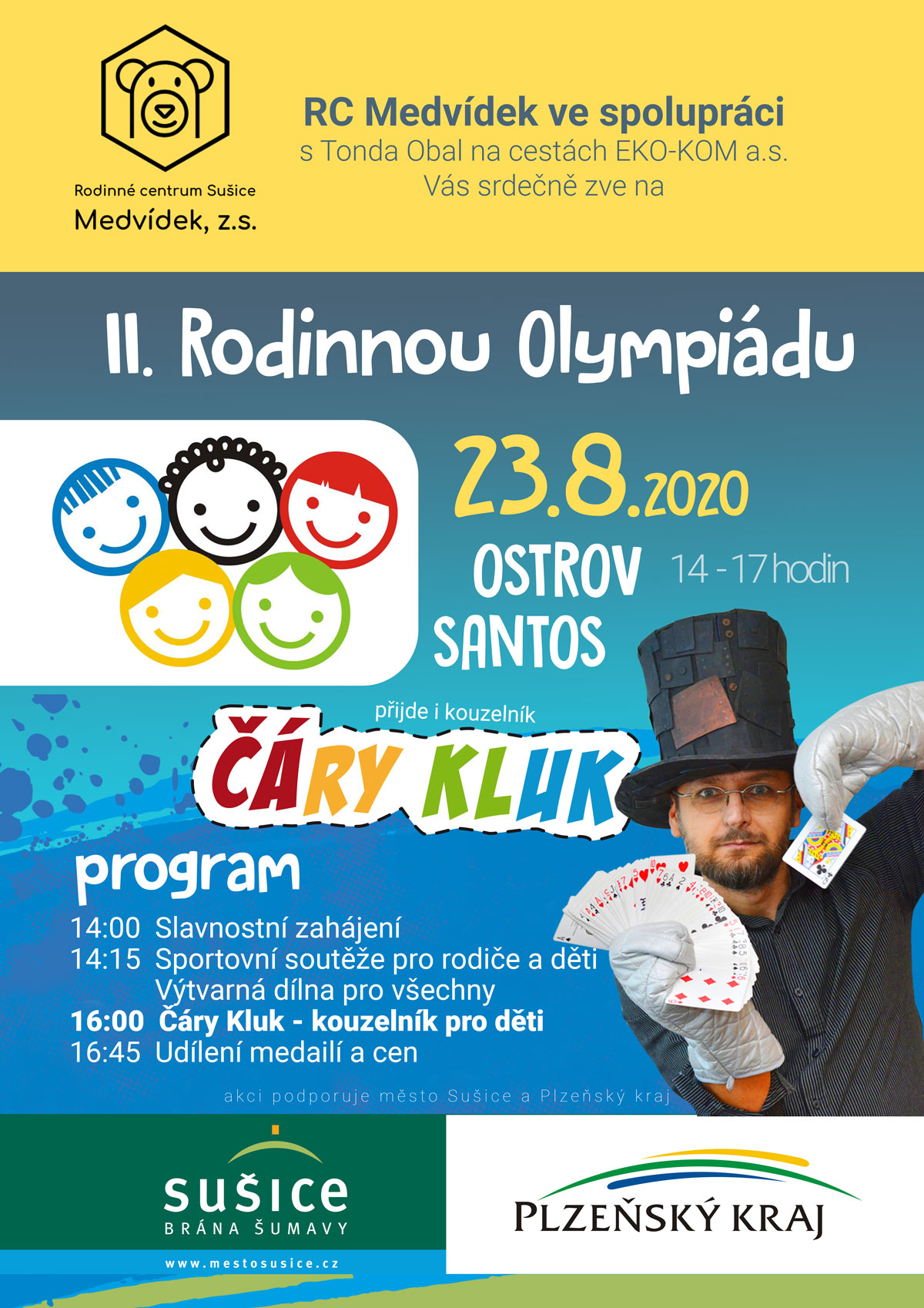 Kouzelník pro děti Sušice - Olympiáda Medvídek
